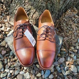 Men's Leather Cap Toe Oxford Dress Shoes